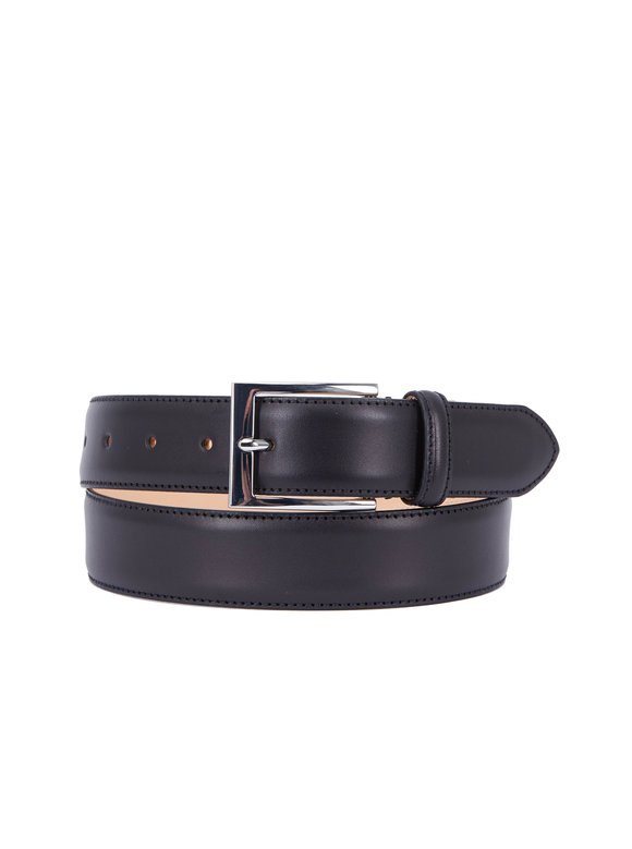 To Boot New York Berry Black Leather Belt