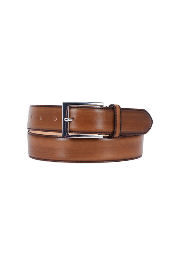To Boot New York Alameda Chestnut Leather Belt