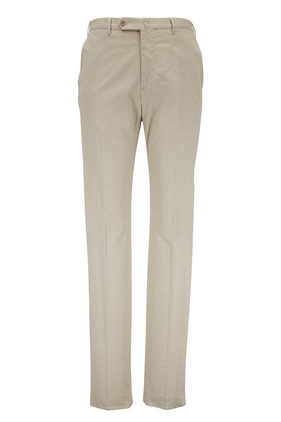 Incotex Beige Stretch Cotton & Silk Pant