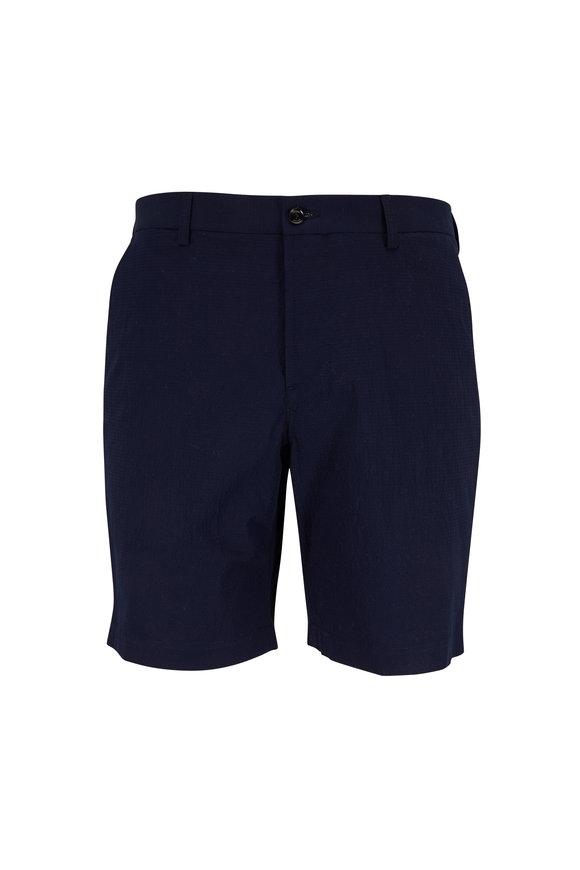 Peter Millar Navy Seersucker Shorts
