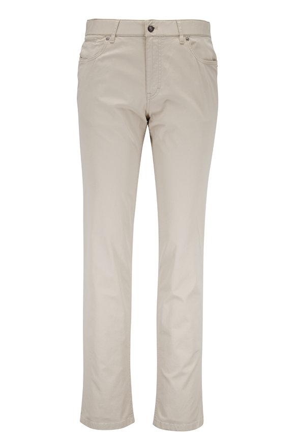 Hiltl Khaki Textured Five Pocket Pant
