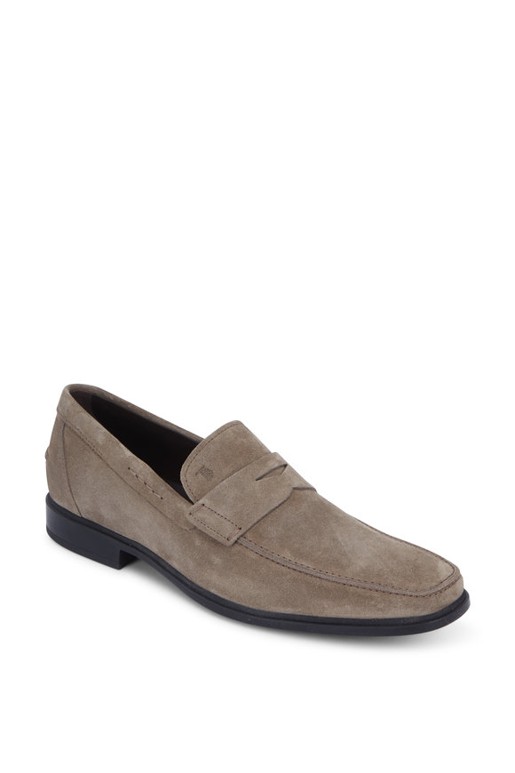 Tod's Gomma Sand Suede Penny Loafer