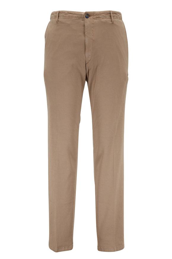 J.W. BRINE Taupe Stretch Cotton Cargo Pant