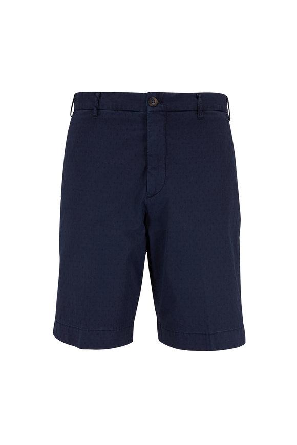 J.W. BRINE Navy Jacquard Shorts