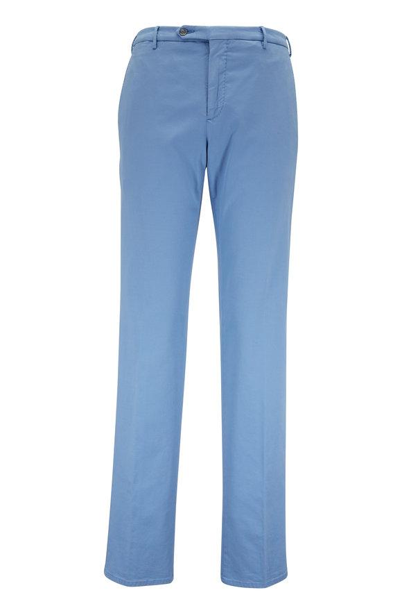 Zanella Light Blue Stretch Cotton Pant