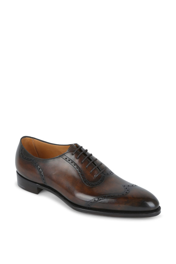 Gaziano & Girling Bramhall II Walnut Leather Wingtip Oxford