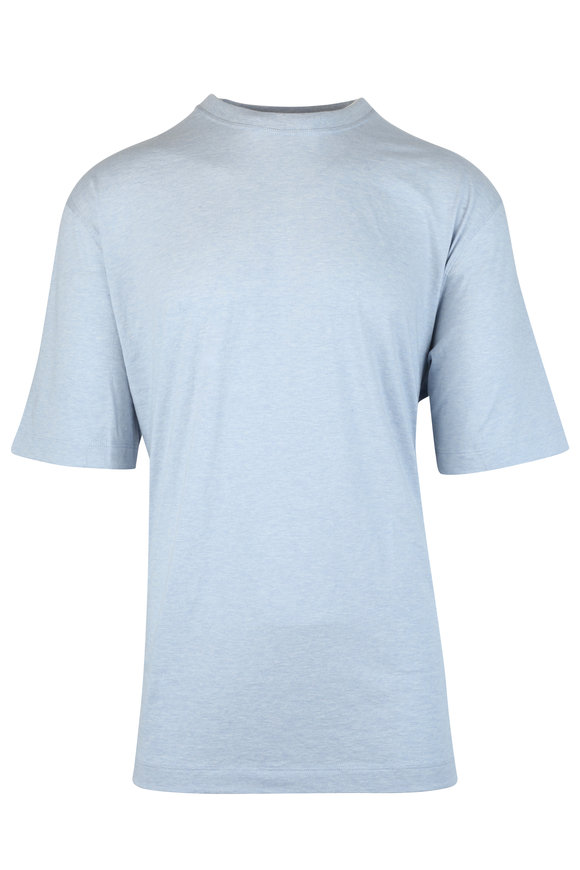 Left Coast Tee Light Blue Cotton T-Shirt