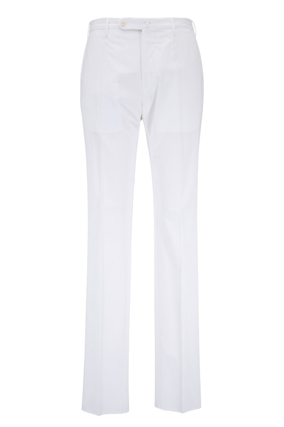 Incotex White Cotton Pant
