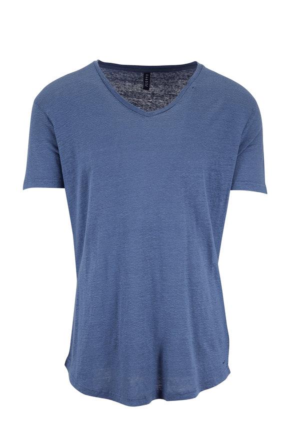 04651 Blue Linen T-Shirt