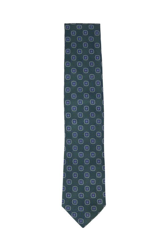 Eton Green Medallion Silk Necktie