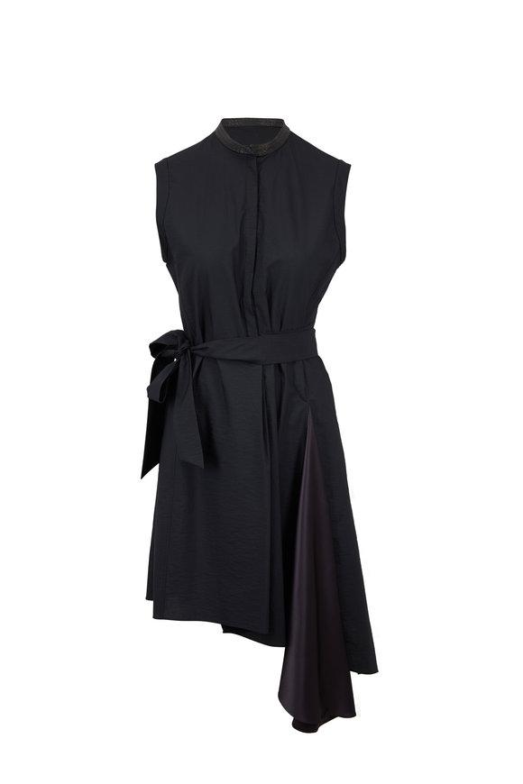 Brunello Cucinelli Volcano Cotton & Nylon Monili Neck Dress
