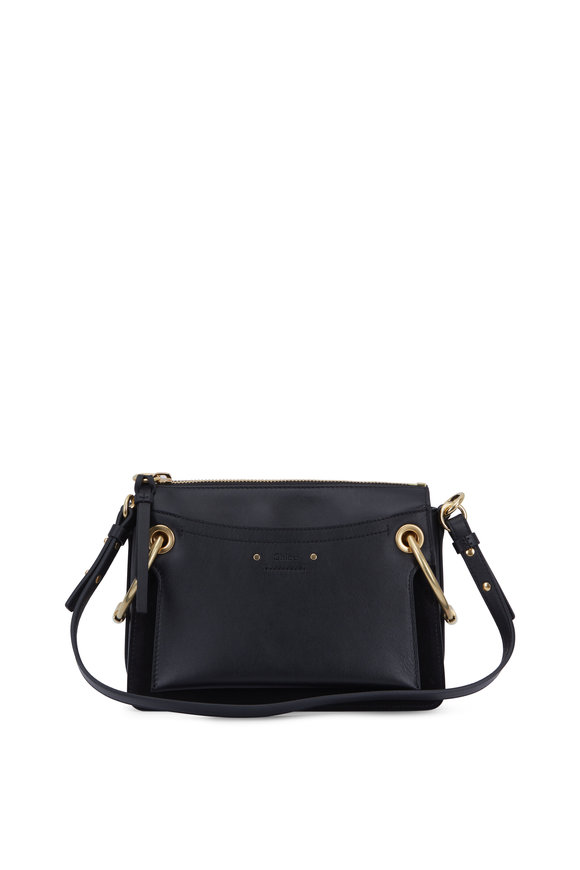 Chloé Roy Black Leather Medium Shoulder Bag