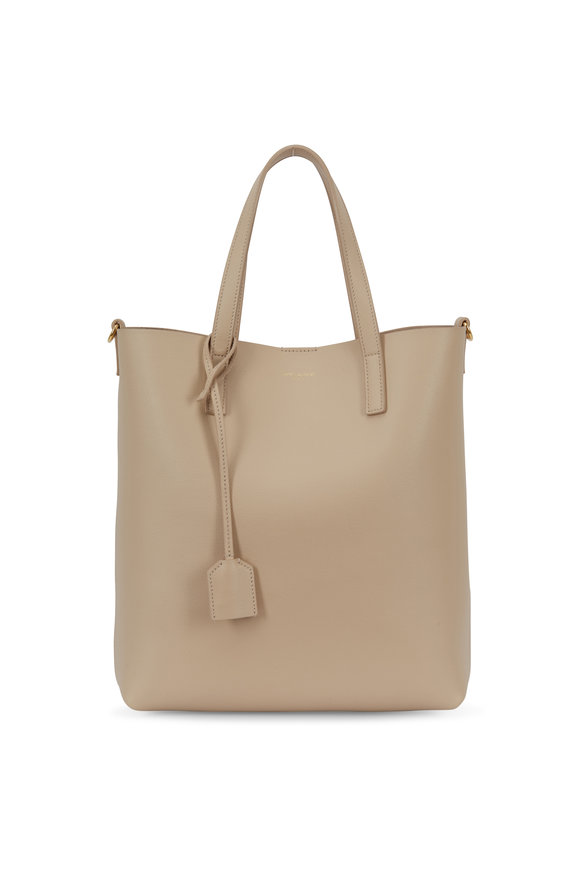 Saint Laurent Poudre Leather Small Toy Shopper Tote