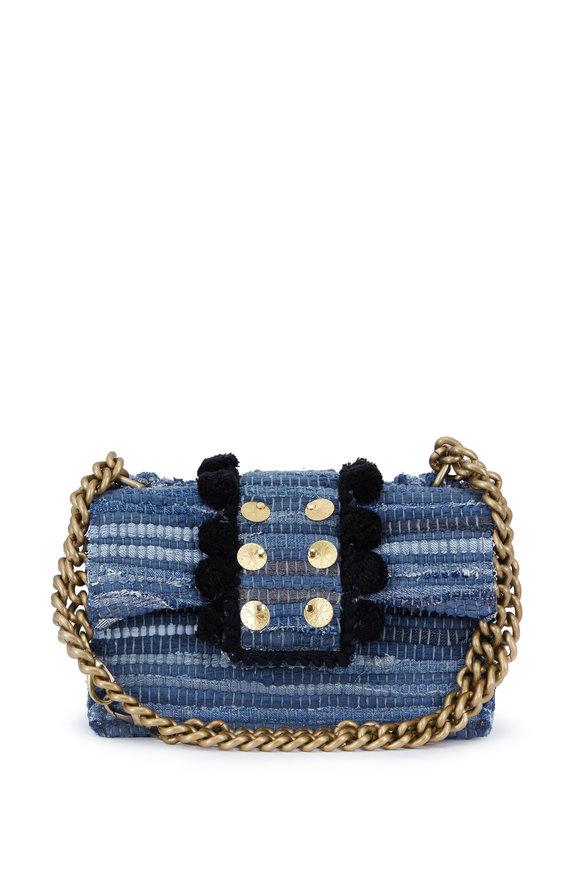 Kooreloo New Yorker Soho Blue Jean Woven Fabric Bag