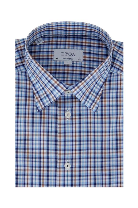 Eton Multi Plaid Contemporary Fit Dress Shirt