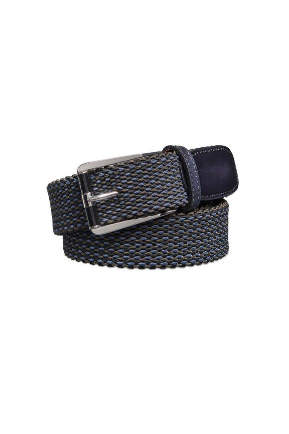 Berluti Black Fabric Woven Belt