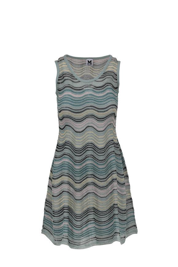 M Missoni Sea Breeze Wave Knit Sleeveless Dress