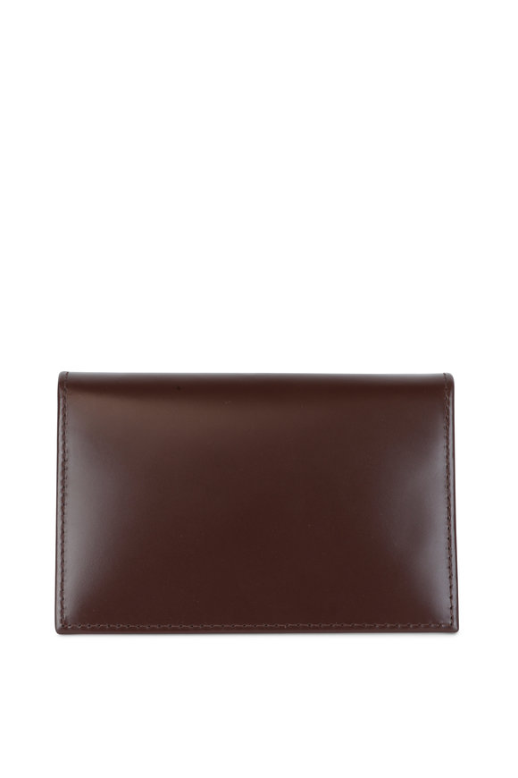 Ettinger Leather Brown & Yellow Leather Card Case