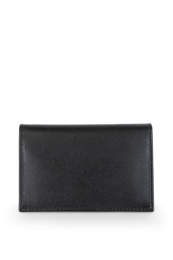 Ettinger Leather Black & Orange Leather Card Case