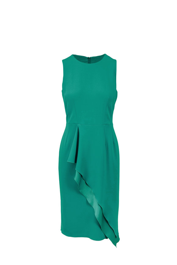 Paule Ka Emerald Green Crepê Sleeveless Dress