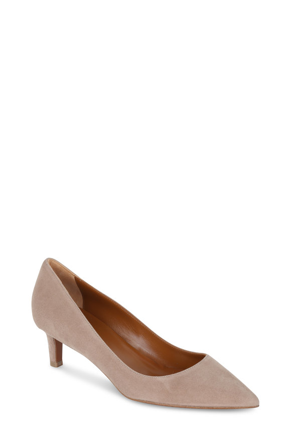 Aquatalia Marion Nude Suede Pump, 50mm
