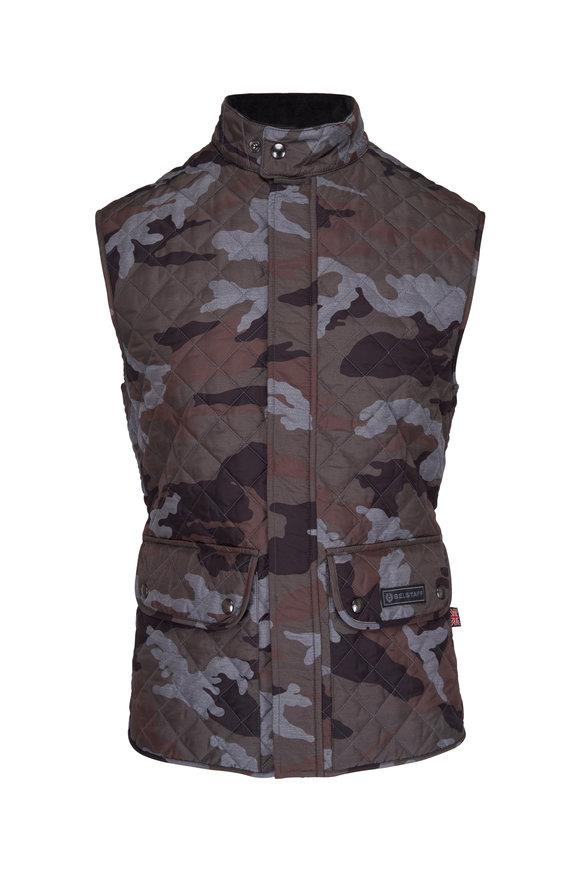 Belstaff Camo Print Quilted Vest