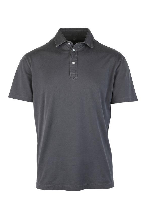 Brunello Cucinelli Gray Cotton Polo