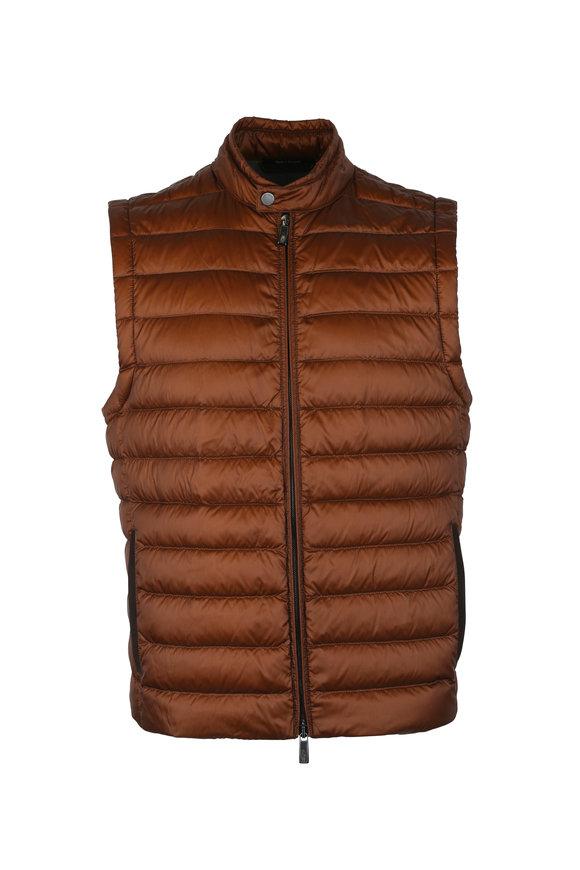 Ermenegildo Zegna Bronze Quilted Vest
