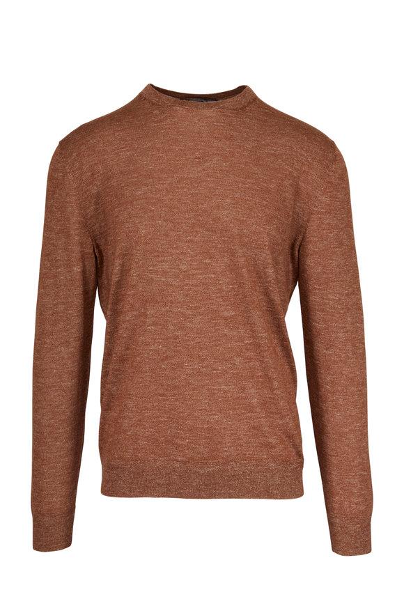 Ermenegildo Zegna Camel Cashmere, Silk & Linen Sweater