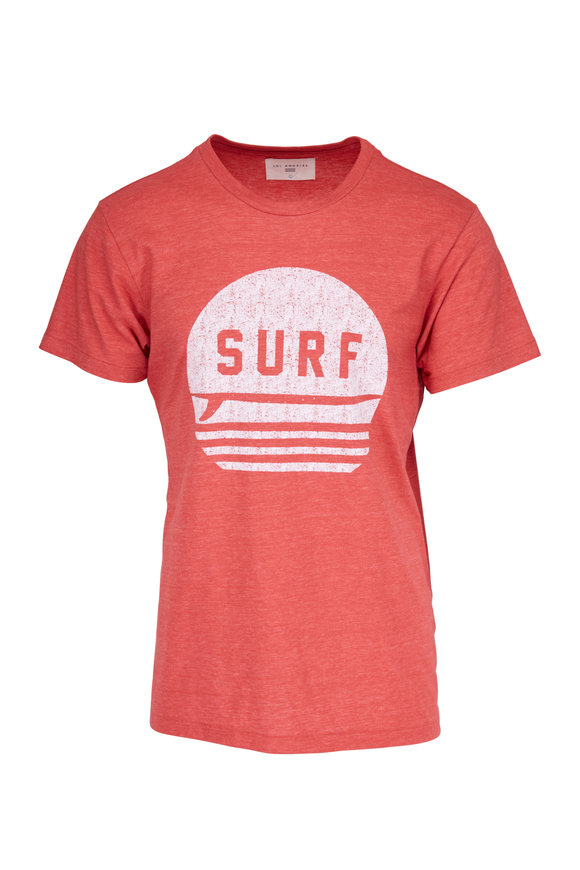 Sol Angeles Surf Red Crewneck T-Shirt