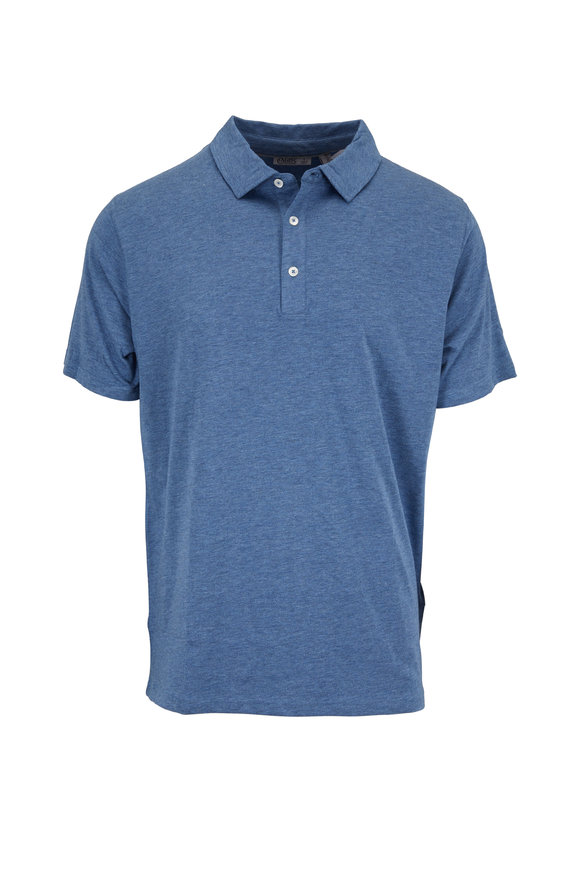 tasc Performance Blue Heather Pimaluxe Polo