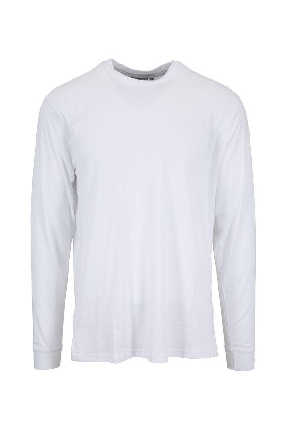 tasc Performance White Pimaluxe Crewneck T-Shirt
