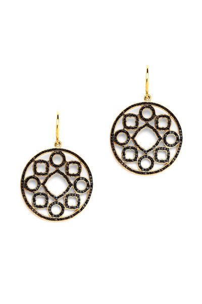 Syna - Small Mogul Black Diamond Earrings