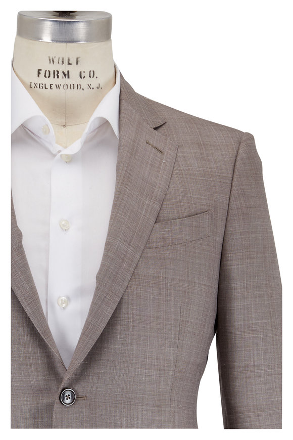 Ermenegildo Zegna Trofeo Summer Tan Wool Blend Suit