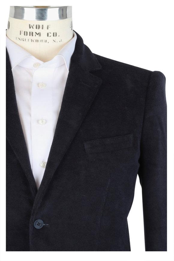 04651 Navy Blue Terry Sportcoat