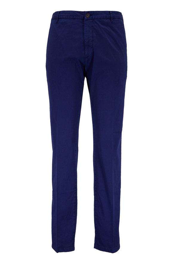 J.W. BRINE Blue Stretch Cotton Flat Front Pant
