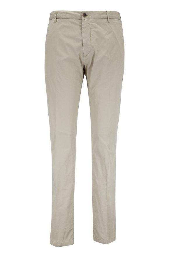 J.W. BRINE Khaki Stretch Cotton Flat Front Pant