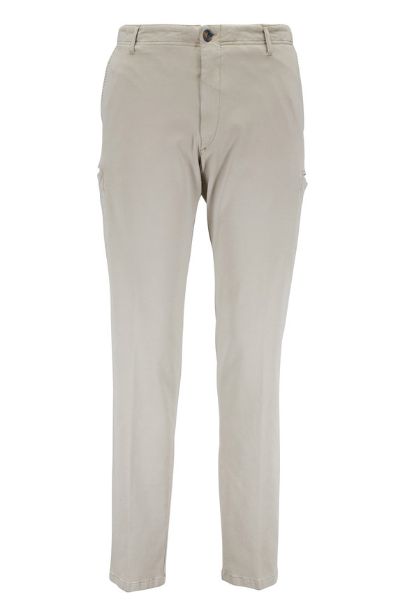J.W. BRINE Drake Khaki Stretch Cotton Cargo Pant