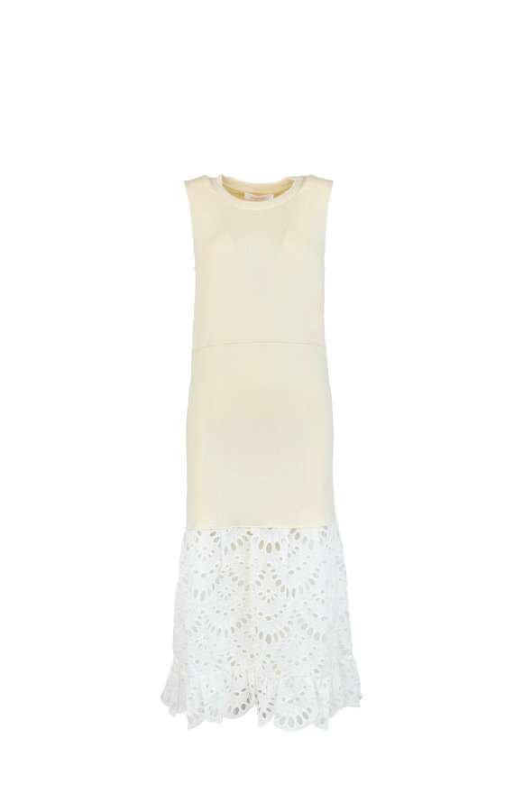 See by Chloé Buttercream Eyelet Lace Dress