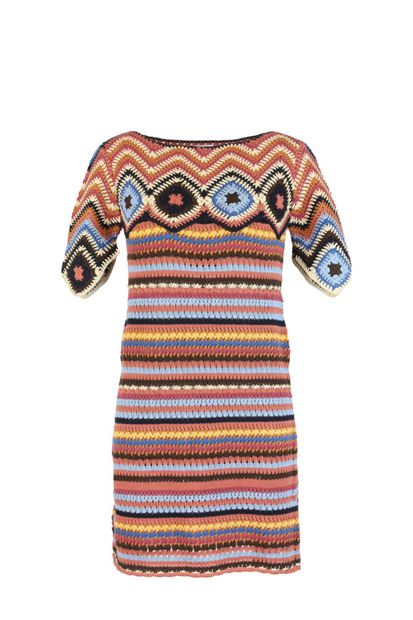 See by Chloé Multicolor Geometric Knit Dress