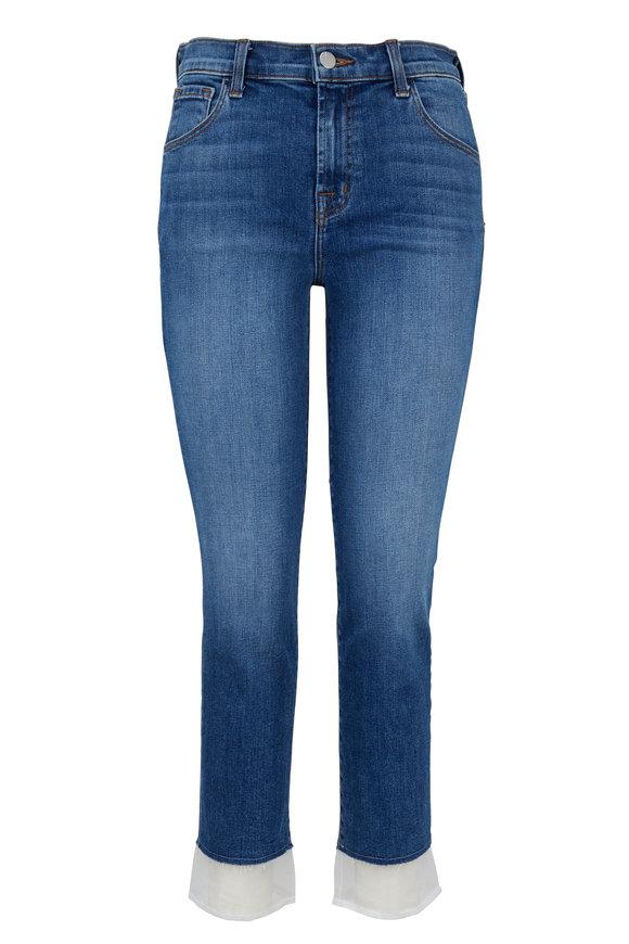 J Brand Ruby High-Rise Cropped Cigarette Jean