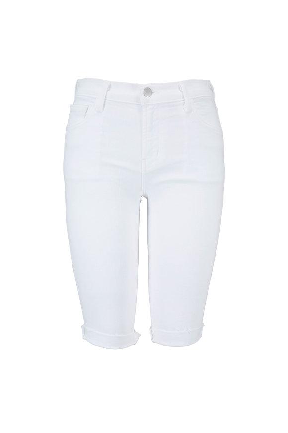 J Brand White Denim Skinny Bermuda Short