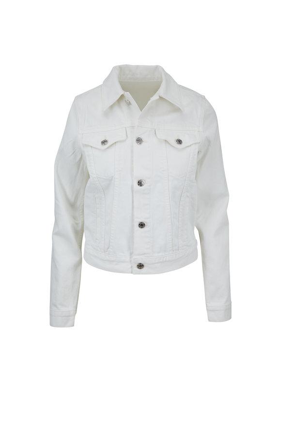 Helmut Lang Crisp White Square Shoulder Denim Jacket
