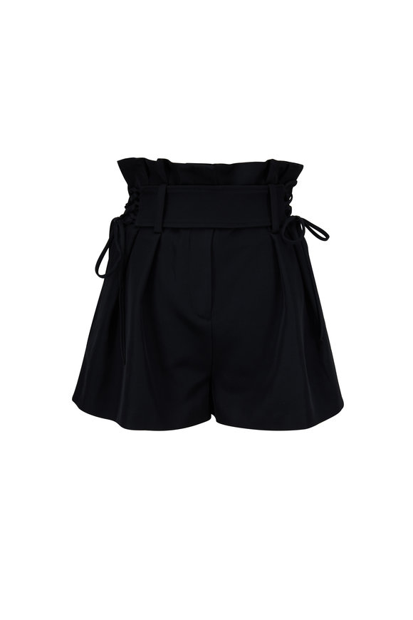 IRO Lalora Black High Waist Short