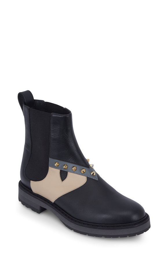 Fendi Bug Monster Black Studded Shearling Lined Boot