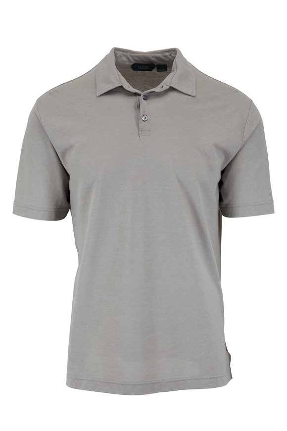 Zanone Gray Ice Cotton Short Sleeve Polo