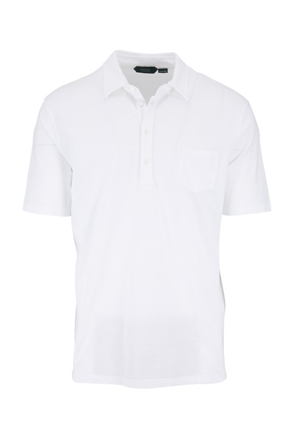 Zanone White Ice Cotton Polo