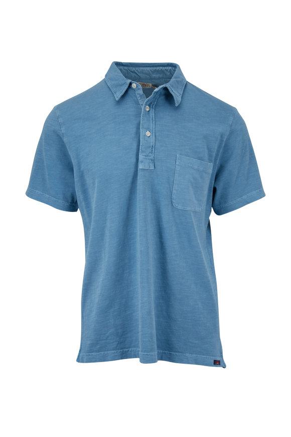 Faherty Brand Sunwashed Sky Blue Pocket Polo