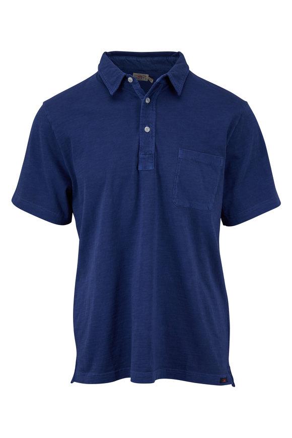 Faherty Brand Sunwashed Navy Pocket Polo