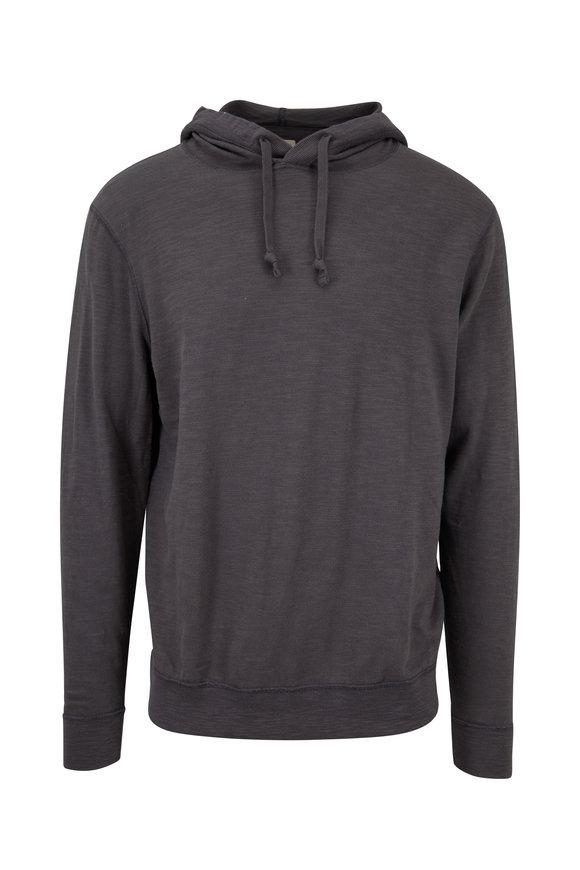 Faherty Brand Charcoal Slub Cotton Hoodie